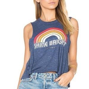 Spiritual Gangster. Rainbow Shine Bright Tank Top